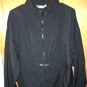 Men's Vintage Champion Quarter Zip Windbreaker